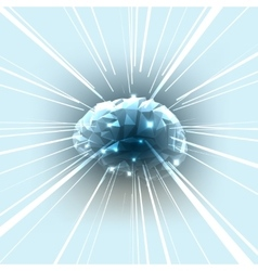 The Concept of Active Human Brain with Rays vector