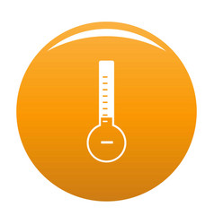 Thermometer cold icon orange vector