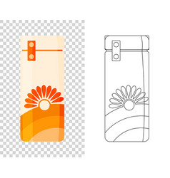 thermos vacuum flask or bottle with hot vector image