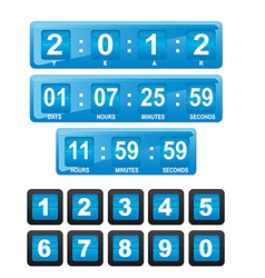 Time design elements vector