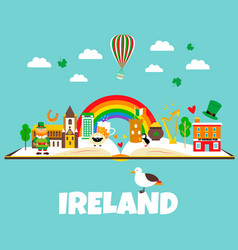 trip to ireland or dublin set of vector image