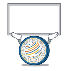 Up board factom coin character cartoon vector