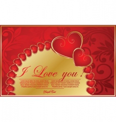 vector valentine background with heart vector image vector image