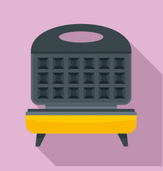 Waffle cooker icon flat style vector