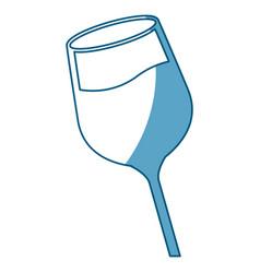 Wine glass cup liquid shadow vector