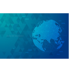 world connection design background vector image