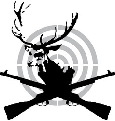 Deer hunt vector image
