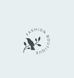 fashion boutique abstract sign symbol or vector image vector image