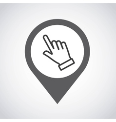 pointer pin location with hand vector image