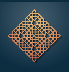 Rhomb decorated with seamless pattern abstract vector