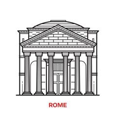 rome landmark vector image vector image