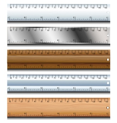 Ruler set vector image