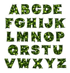 alphabet green vector image vector image