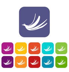 banana peel icons set vector image