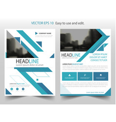 blue abstract triangle annual report brochure vector image vector image