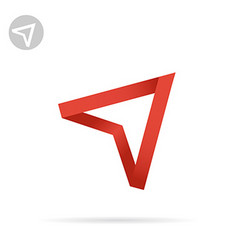 Red arrow pointing up vector image vector image