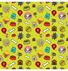 Seamless dogs pattern vector image vector image