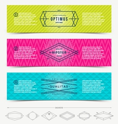Set of abstract banner template design with line vector image vector image