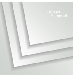 Abstract White Background with Paper Layers vector image vector image