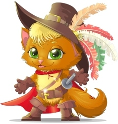 handsome cat in boots vector image