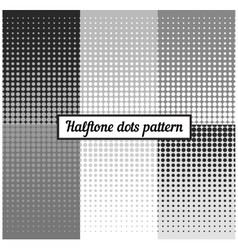 Monochrome set of halftone retro background vector image vector image