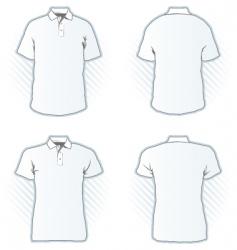 polo shirt design template set vector image