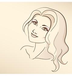Portrait of woman in pastel tones vector image