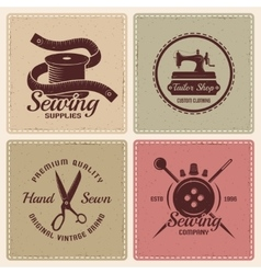 Tailor Icon Set vector image vector image