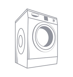 Wash Machine Isolated on White Background vector image