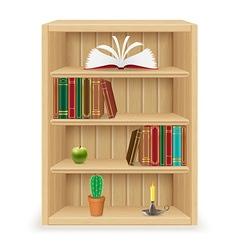bookshelf 02 vector image vector image