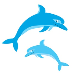 Dolphins vector image vector image
