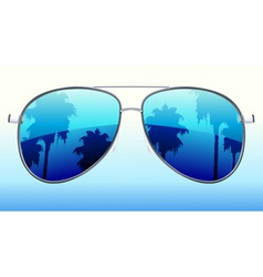 vector illustration of funky sunglasses with the r vector image vector image