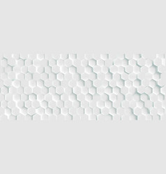 3d futuristic honeycomb mosaic white background vector image