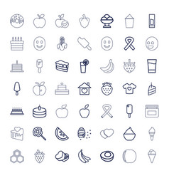 49 sweet icons vector
