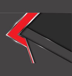 Abstract red arrow gray metal shadow design vector