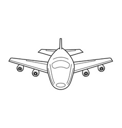 Airplane icon with lines vector
