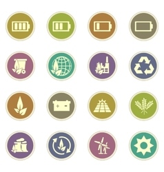 Alternative energy icons vector