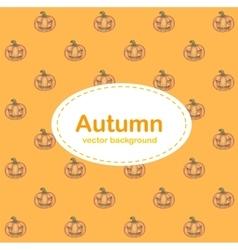 Autumn background with Halloween pumpkin vector image