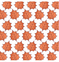 autumn brown leaves nature foliage pattern design vector image