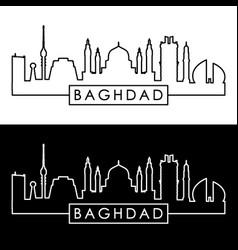 baghdad skyline linear style editable file vector image