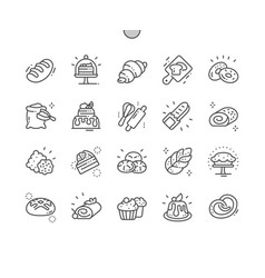 Bakery well-crafted pixel perfect thin line vector