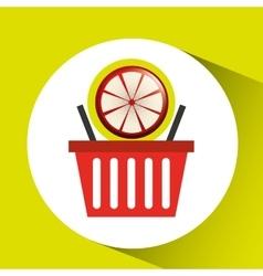 Basket market grapefruit icon design vector