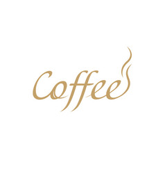 beautiful calligraphic lettering pen cafe vector image