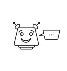 Black thin line chatbot icon vector