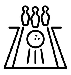 Bowling track icon outline style vector