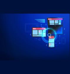 building website for multiple platforms vector image