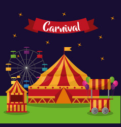 Carnival fair festival vector