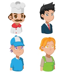 Cartoon Avatar Job Character Cute vector image