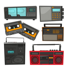 cartoon of old music cassette vector image