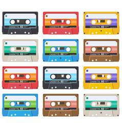 cassette-pattern-01 vector image